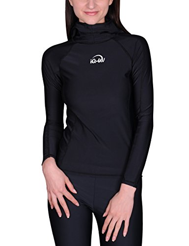 IQ UV 300 Kapuzemshirt langarm, Schwarz (black), 40 (Herstellergröße: M)