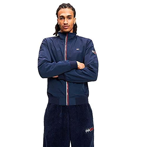 Tommy Jeans Cazadora Chaqueta Bomber Essential con Parche,Deportiva y Elegante, Azul (Black Iris), XS para Hombre