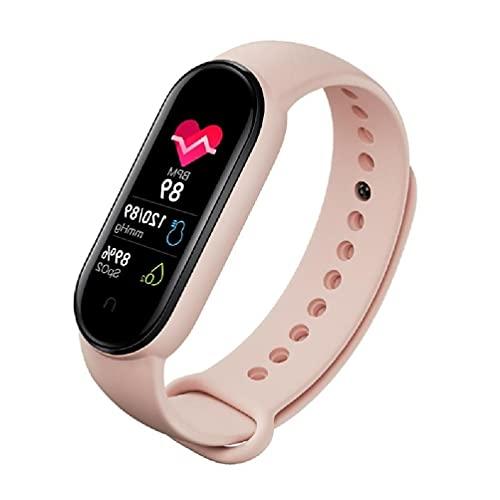 Ydh M6 Smartwatches Relojes Deportivos Pulseras Inteligentes para Hombres y Mujeres Ompass Monitor de frecuencia cardíaca Impermeable Bluetooth Pulsera de Cuero de 19 mm