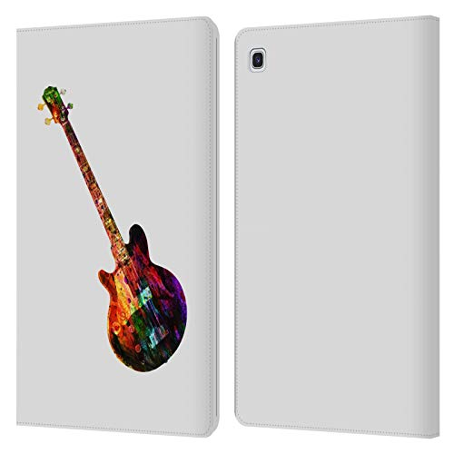 Officiële Mark Ashkenazi Gitaar Muziek Lederen Book Portemonnee Cover Compatibel voor Samsung Galaxy Tab S5e