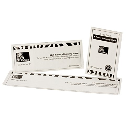 Zebra ZXP Series 8 cleaning cards Set of 15 cardsÿ, 105999-801 (Set of 15 cardsÿ)