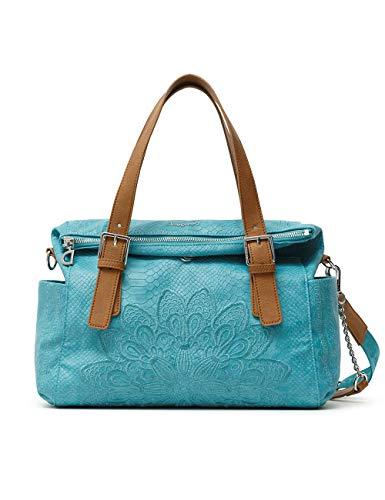 Desigual Womens PU Hand Bag, Blue, U