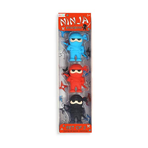 Ninja erasers 3 pack stocking stuffer