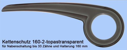 DEKAFORM Fahrrad Kettenschutz für Shimano Nexus Stevens VSF 160-2 für 33 Zähne * topas-transparent