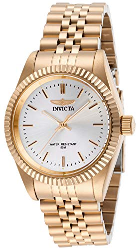Invicta Women's Specialty Quartz Watch with Stainless Steel Strap, Rose Gold, 18 (Model: 29413)