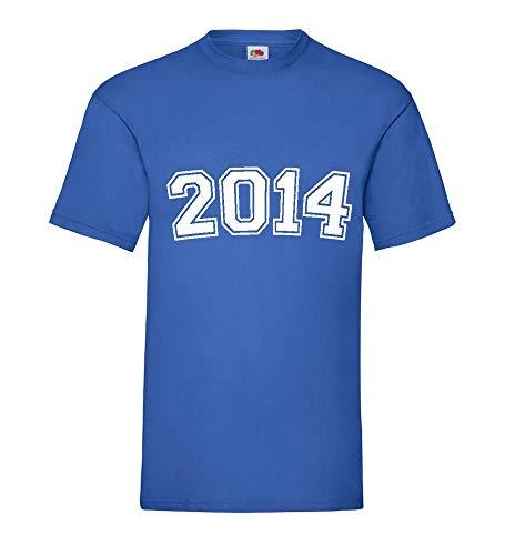 2014 shirt84.de - Camiseta para hombre azul real XXL