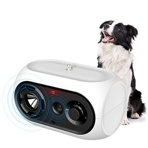 SiBei Bellende Hunde, wasserdichte Anti-Bellkontroll-Abschreckung, Ultraschall-Bellstoppgerät für kleine große Hunde, wiederaufladbares Bellenkontroll-Trainingsgerät, für drinnen und draußen