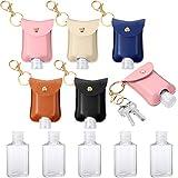 5 Piezas Botellas de Plástico de Viaje Vacías Botellas Reutilizables Transparentes con Tapa Abatible con Llavero Contenedores de Portador 2...