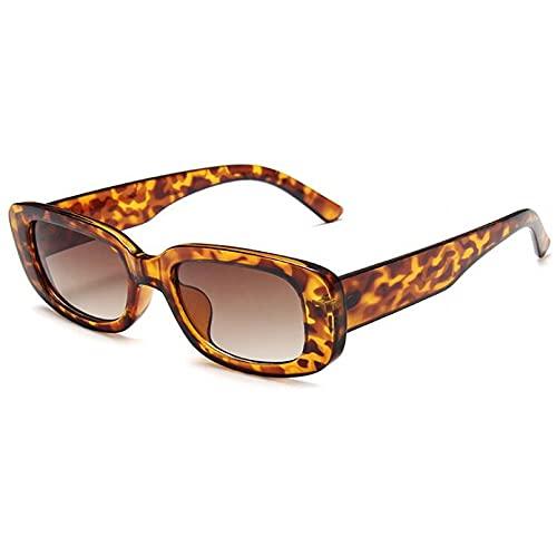 FSDFS Gafas de Sol rectangulares Verdes para Mujer, Gafas cuadradas de plástico, Gafas de Sol de Montura pequeña para Mujer, para Hombre