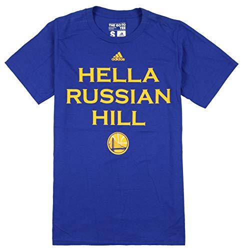 adidas Golden State Warriors NBA Hella San Francisco Neighborhood - Camiseta, color azul, XXL, Colina rusa ✅