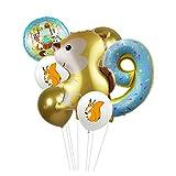 Ballons 7pcs / lot ballons de renard de feuille de dessin animé avec animal de ballon de latex Numéro de baby-douche Globos enfants anniversaire fête décorations enfants Fête ( Color : Squirrel 9 )