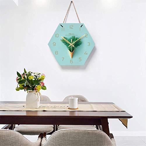 Yuany Acryl Wandklok, Moderne Decoratie Wandklokken met Persoonlijke Touw & Stille Beweging, voor Woonkamer en Slaapkamer, Batterij Bediend, Groen