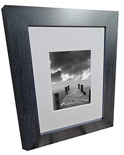 Eyam Range Bilderrahmen, A4, 30,5 x 20,3 cm, schwarze Esche, extra breit, 40 mm, mit Passepartout für 17,8 x 15,2 cm
