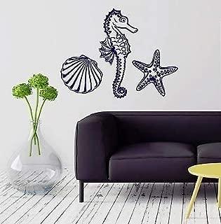 V-studios Wall Decal Marine Animal Seahorse Starfish Seashell Vinyl Stickers VS2872