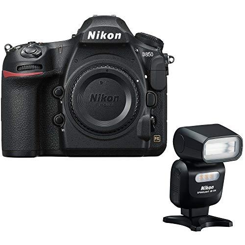 Nikon D850 45.7MP Full-Frame FX-Format DSLR Digital Camera (Renewed) with SB-500 AF Speedlight Flash