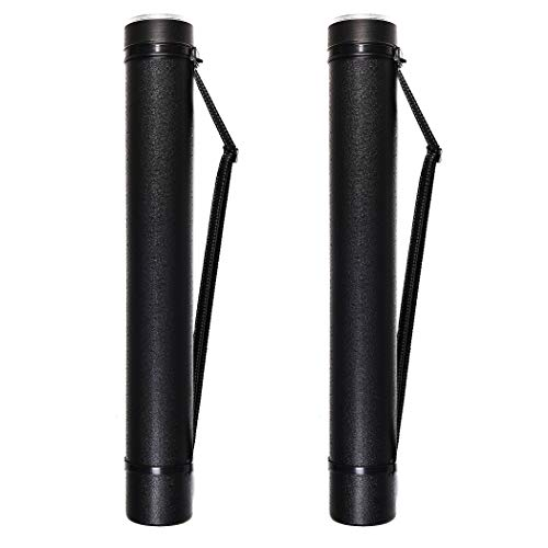 "2-Pack Extendable Poster Tubes Expand from 24.5"" to 40"" with Shoulder Strap 