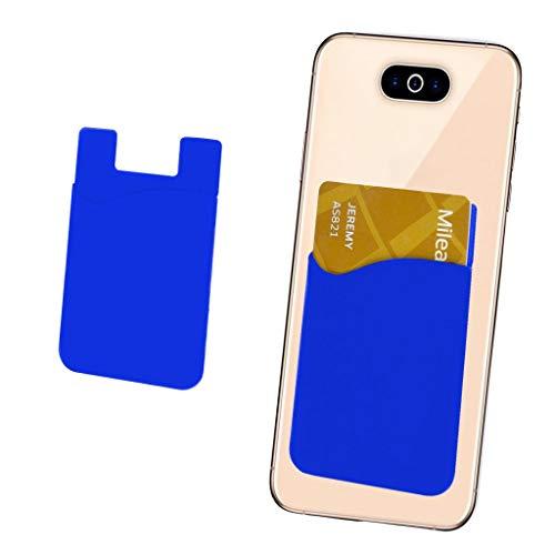 i-Tronixs (blau Kreditkarten-Halter für Handyrückseite, Silikon-Karte, haftet mit 3M Selbstklebender Handy-Hülle für Cat B100 (kompatibel mit iPhone/Android/Tablets)
