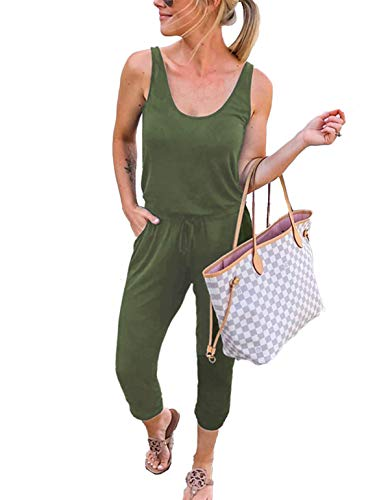 ANRABESS Womens Summer Scoop Neck Sleeveless Tank Top Jumpsuit Rompers A208junlv-S