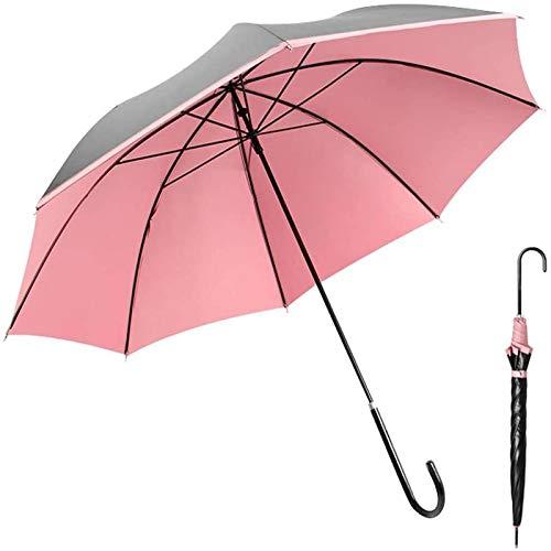 Paraguas De Palo De Golf Grande, Protección UV A Prueba De Viento De 43 Pulgadas para 2 Personas, Hombres Y Mujeres, Mango De Cuero Clásico Ligero(Color:A)