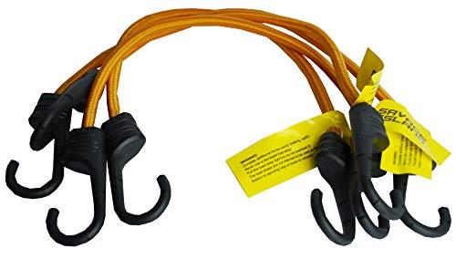 Savage Island Pack de 4 Cuerdas elásticas reforzadas con Ganchos Recubiertos de plástico