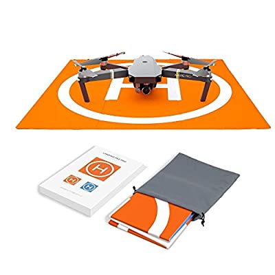 Hensych® RC Drone Landing Pad Waterproof PU Portable Foldable Landing Mat for DJI Mavic Air/Mavic Pro/Spark, with Carrying Storage Bag,Double Sided Color Design