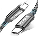 AkoaDa USB-C to USB-C 100W Cable 10ft, USB C Braided Fast Charging Cable Compatible with MacBook Pro 2020/2019/2018, iPad Pro 2020/2019/2018,Samsung Galaxy Note 20,Pixelbook and Type-C Laptops (Grey)