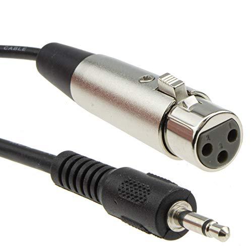 3,5 mm Mono Klinkenstecker PC/Laptop Zum XLR Weiblich Mixer/Speaker Kabel 2 m [2 Meter/2m]