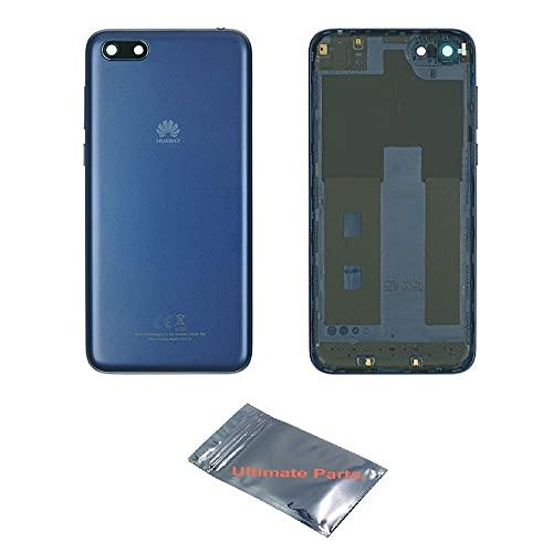 UP! ULTIMATE PARTS - pour Huawei Y5 2018 / Y5 Prime 2018 /Y5 Lite 2018 DRA-LX2 LX2 L01 L21 L21 LX3 - Cache Batterie Boitier Bleu avec Lentille en Verre pour Caméra - 100% Original Constructeur