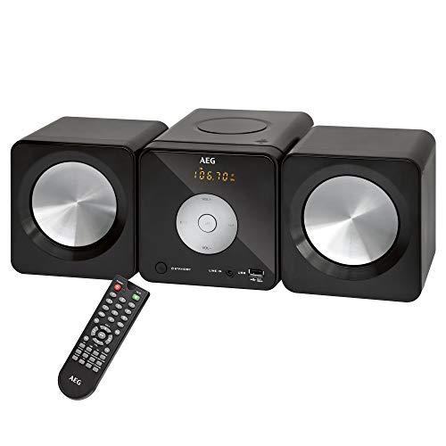 AEG MC 4463 CD, Musik-Center mit CD/MP3/USB/AUX-IN und PLL-Tuner (UKW/UKW-Stereo), 30 Stationsspeicher, Mono/Stereo, voreingestellter Equalizer mit 5 verschiedenen Klangszenarien, schwarz