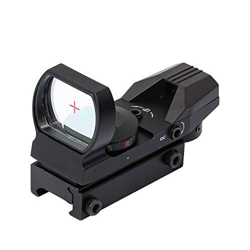 BOMT Zielfernrohr Rot Und Grün Punkt Visier Luftgewehr Gewehr-Bereich Geeignet für Picatinny-Schienen Geeignet für Weaver-Schienen