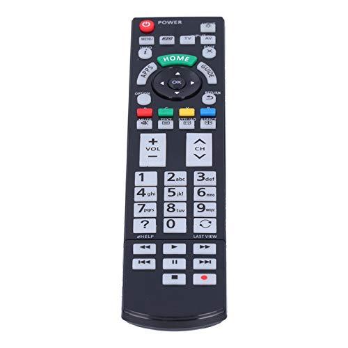 Fdit Controles remotos, Control Remoto Universal de TV, Accesorios de Repuesto para TV para th58ax800a / th60as800a / th65ax800a / n2qayb000936, sin programación ni configuración