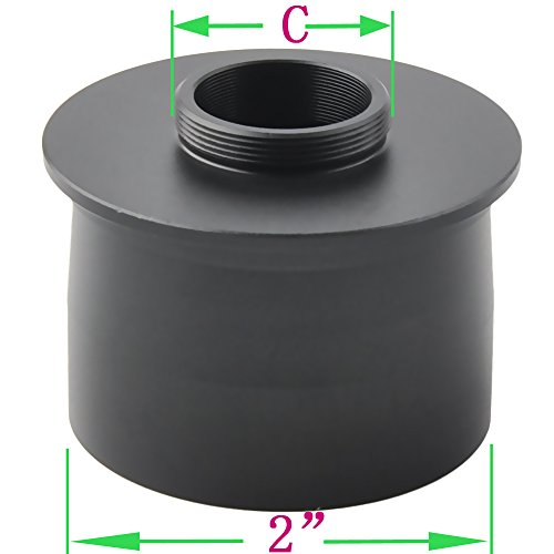 Gosky C Mount to 2' Video Camera Adapter for -Attach Your Camera to The Telescope for Astrophotography