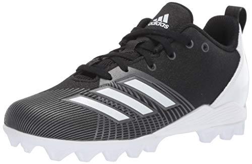 adidas Unisex-Kid's Adizero Spark Md Football Shoe, Black/White/Night Metallic, 3 M US Little Kid