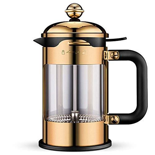 LYYJIAJU koffiezetapparaat, Frans perskoffiezetapparaat met niveaufiltersysteem, duurzaam gemakkelijk schoon hittebestendig borosilicaatglas