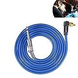 Silicone morbido tattoo clip cord, flessibile silicone gancio line core clip tattoo wire per 90 gradi RCA interface tattoo machine kit di conversione di alimentazione accessorio(Blu)