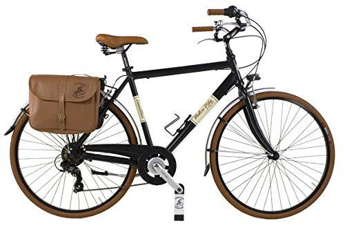 Via Veneto by Canellini Bicicleta Bici Citybike CTB Hombre Vintage Retro Dolce Vita Aluminio Black Matt Negro (58)