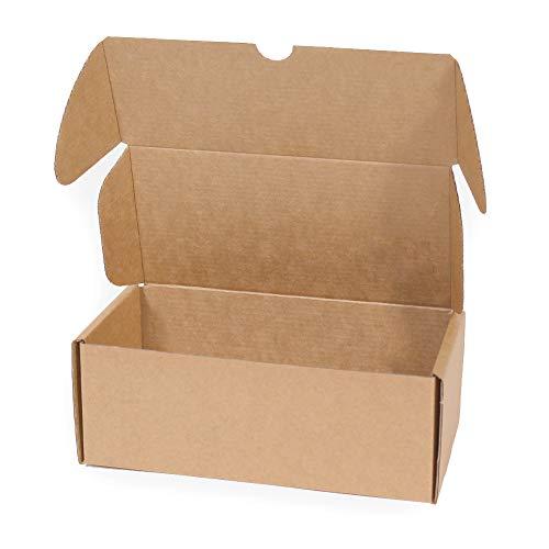 Kartox | Caja de Cartón Kraft Para Envío Postal | Caja de Cartón Automontable para Envío o Almacenaje | Talla M | 20x9x7 | 20 Unidades