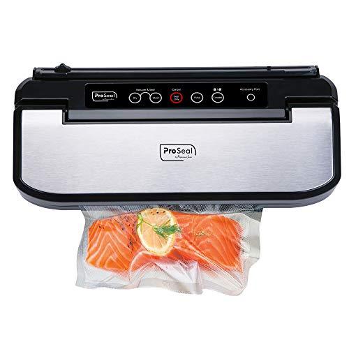 Máquina de sellado de alimentos al vacío ProSeal de 11.8 pulgadas con sello térmico hermético para alimentos secos y húmedos para una frescura superior