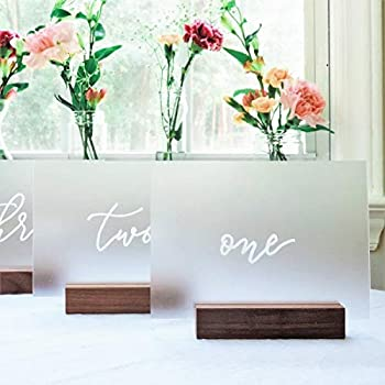 UNIQOOO 20 Pack Frosted Blank Acrylic Sign - 5x7 Table Number Signs Wedding Signs Card and Gift Signs Christmas Party & Dinner Signs Hand Lettering Quotes Gift Ideas - Stand Holder NOT Included