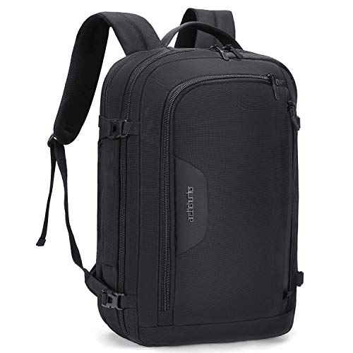 Fresion Business Laptop Backpack Briefcase - 17.3 Inch Business Backpack Travel Rucksack with USB Charging Port & Earphone Port, Convertible Backpack for Business Work Travel Men Women, Black