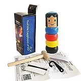 nsstar 1 set immortal daruma magic trick, immortal daruma toys bambola di legno uomo magic toy stage magic puntelli divertente giocattolo magico di legno per bambini