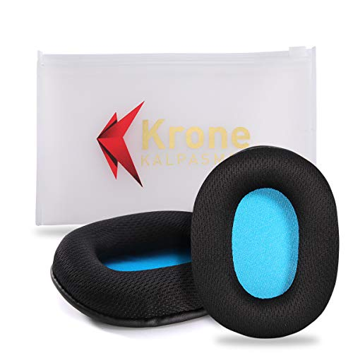 Krone Kalpasmos Replacement Earpads for Turtle Beach-Stealth/Audio Technica ATH -M/HyperX/Sony/SteelSeries/Sennheiser(Lists Inside)Many Large Over Ear Headphones, Breathable Fabric Memory Foam Cushion