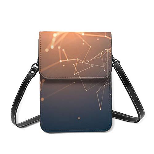 Lines-Light-Background-Neon-Lines Frauen Fashion Damen Love Mini Soft Simply Cross-Body Bag