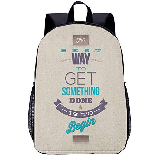 Printing Backpacks, Motivational, Kindergarten Cute Cartoon Schoolbag, 16 inch