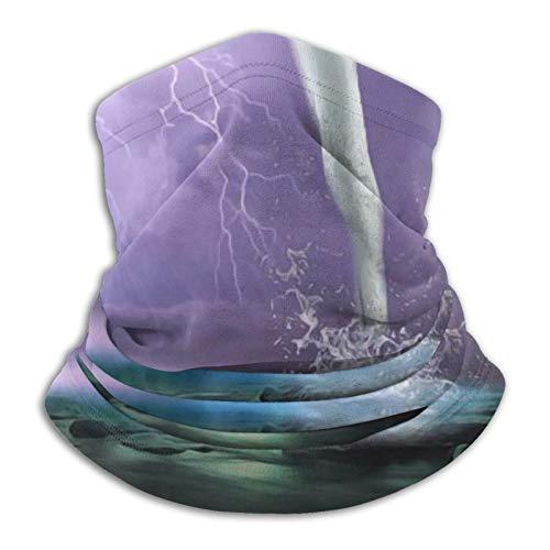 Microfiber Neck Warmer Bandana Headwear, Hammock Tornado Seamless Scarf Neck Gaiter