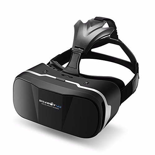 e1f23cffd610 BlitzWolf vr Headset 3d Viewer Glasses Virtual Reality Google Cardboard  Upgraded Version Movies Games Helmet for