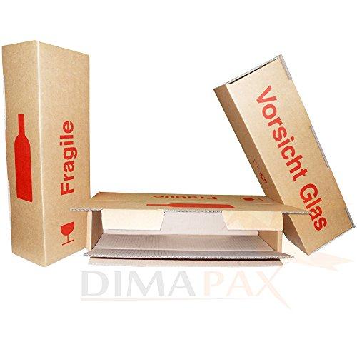 Wijnverzending doos voor 1 fles verpakking verzending champagne Prosecco 100 stuks dimapax