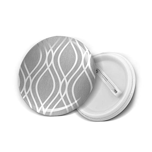 Insignia redonda DIY Botones Camden Wave Suave Gris Plata Moda Titular Mini Broches Pin Insignias Botones Ropa Pines 4.5 cm