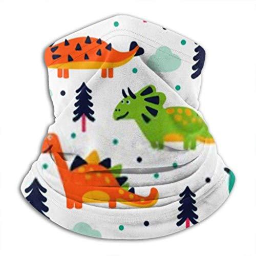 Merle House Bandana Mascarilla Neck Gaiter Tube, Ear Warmer Headband. Adorable Seamless Pattern Funny Dinosaurs Cartoon Ultimate Thermal Retention