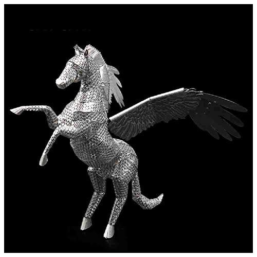 Taoke Merkwürdiges Geschöpf Pegasus 3D-Metall-Model Kit for Adult-Sammlung und Kinder Geburtstags-Geschenke, Laserschneiden (Silber) 8bayfa